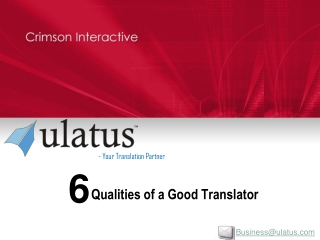 Qualities Of A Good Translator