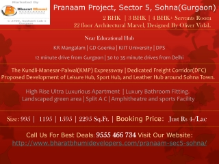 Pranaam Project in Sohna (Gurgaon) | 9555 466 734