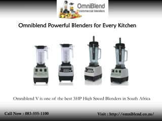 Omniblend Powerful Blenders for Every Kitchen
