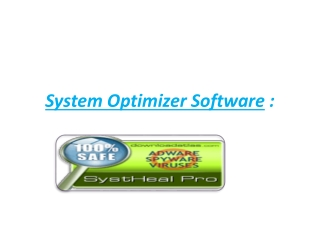 System Optimizer Software