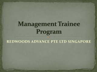 Redwoods Advance - Management Trainee Program