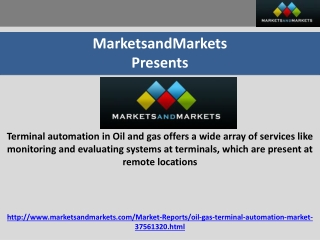 Terminal Automation Market in Oil and Gas