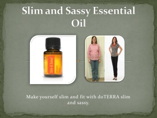 doTERRA Slim and Sassy