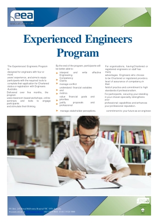 EEA Experienced Engineers Program