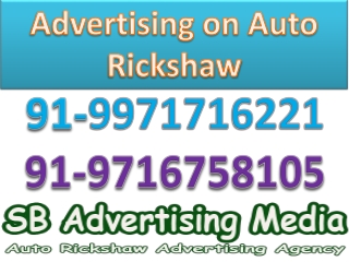 Advertising on auto rickshaw Delhi