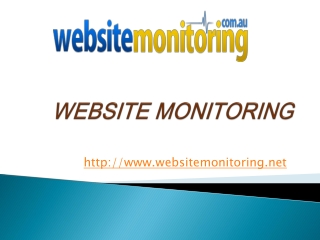 Australian Website Monitoring Service