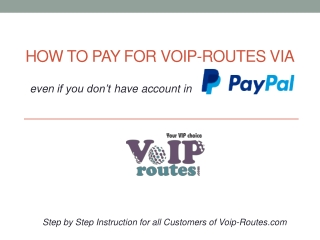 How to pay for voip-routes via paypal