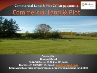 Find Commercial Land in Noida at best Price