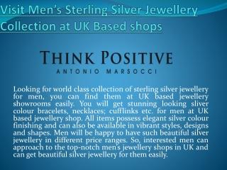 Get Mens Silver Jewellery UK