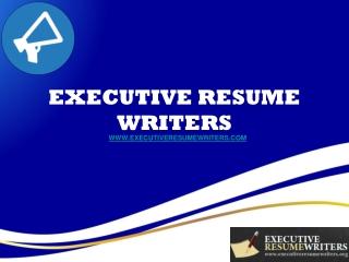 Executive Resume Writers