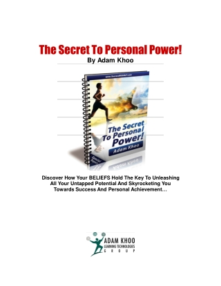 Adam Khoo - The Secret of Personal Success