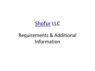 Shofur LLC