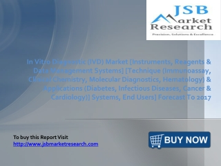 JSB Market Research: In Vitro Diagnostic (IVD) Market Techn
