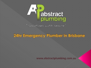 24hr Emergency Plumber in Brisbane