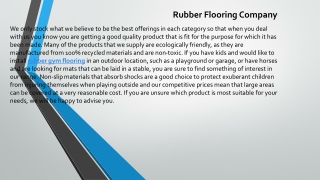 Rubber Flooring Company