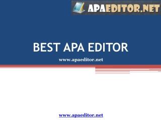 APA Editor