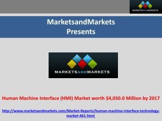 Human Machine Interface (HMI) Market worth $4,050.0 Million