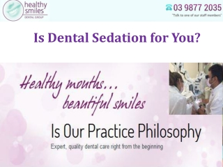 Is Dental Sedation for You?