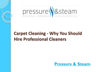 Carpet Cleaning - Why You Should Hire Professional Cleaners