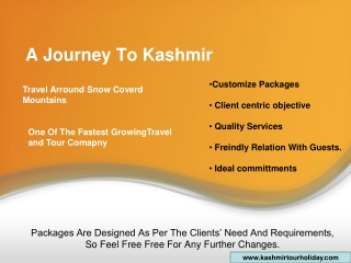 Best Holiday Vacation Tour Package For Kashmir