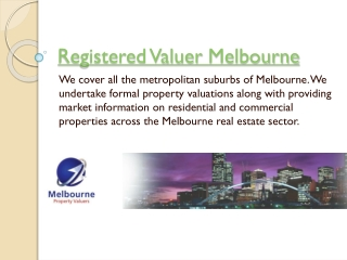 Certified Property Valuer Melbourne