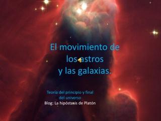 El movimiento de los astros