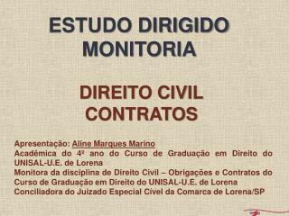 direito civil contratos