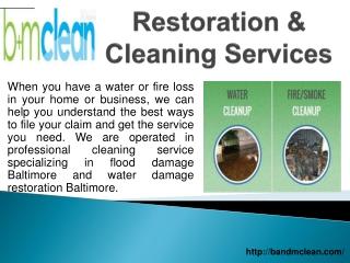 Water Restoration Baltimore