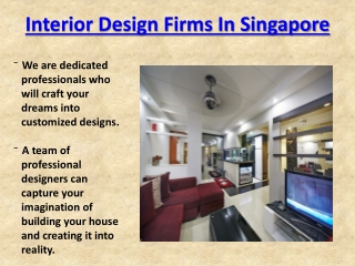 Interior Design Firms In Singapore