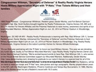 "Congressman Wittman, ""Secretary of Defense"""