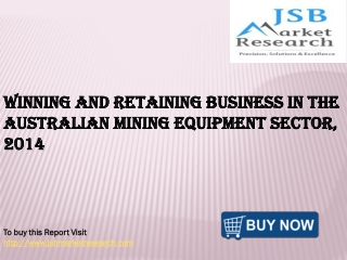 JSB Market Research: Winning and Retaining Business