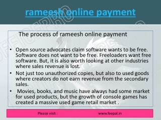 Successful transaction of rameesh online payment