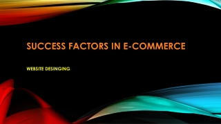 Success Factors in E-Commerce