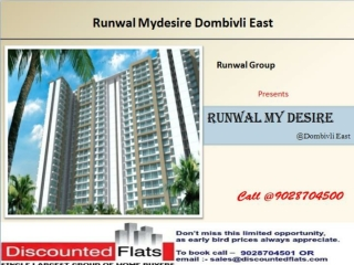 Runwal Mydesire Dombivali Mumbai by Runwal Group