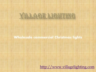 Wholesale commercial Christmas lights