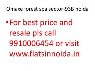 omaxe forest spa noida 9910006454