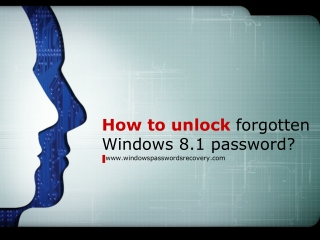 How to unlock forgotten Windows 8 password?