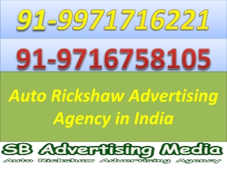 Auto Rickshaw Advertising Agency in India