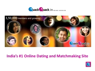 Indian Dating Site Online Free - QuackQuack