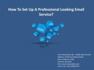 How To Set Up A Professional Looking Email Service
