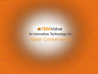 TeraValve – An Innovative Water Saving Device