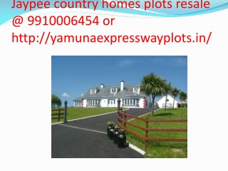 jaypee country homes plots 9910006454