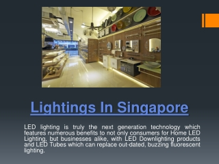 Singapore Lighting