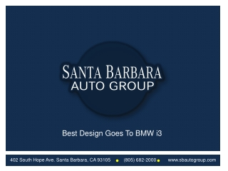Best Design Goes To BMW i3