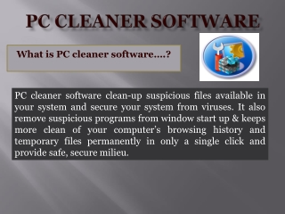PC Cleaner Software