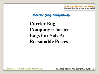 Carrier Bag Company