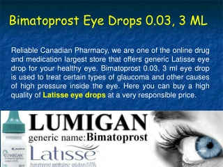 What Are The Importance Of Generic Latisse Eye Drops?