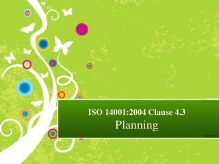 Presentation on ISO 14001 Planning as per Clause 4.3