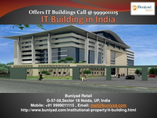 IT Building for sale in Delhi NCR at best price with Buniyad