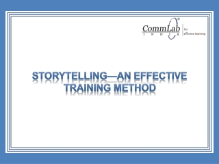 Storytelling - An Effective Training Method!